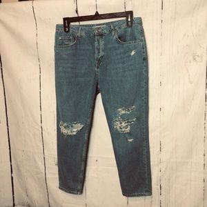 Topshop Moto Womens Jeans Size 32 Blue